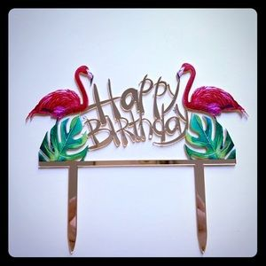 Other - Flamingo Tropical Birthday cake topper🏝🎉 🎂
